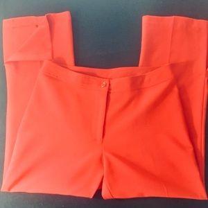 XOXO Capris Red zip up pants, Size 8.